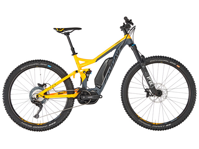 Conway eWME 427 MX E-MTB Full Suspension yellow/grey